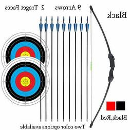 """iMay 45"""" Bow and Arrows Set with 9 Arrows 2 Target Faces for"""