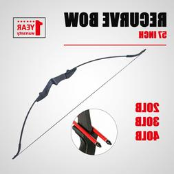 Archery Takedown Recurve Bow 57in. 20 30 40lbs Right Left Ha