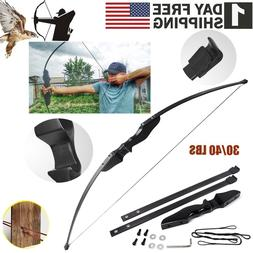 Outdoor Camping Hunting Archery Recurve Bow Set Takedown Lon
