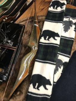 recurve bow sock green running bear longer
